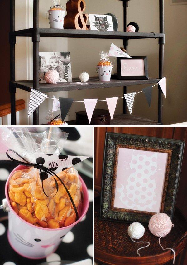 kitty cat birthday party decor ideas
