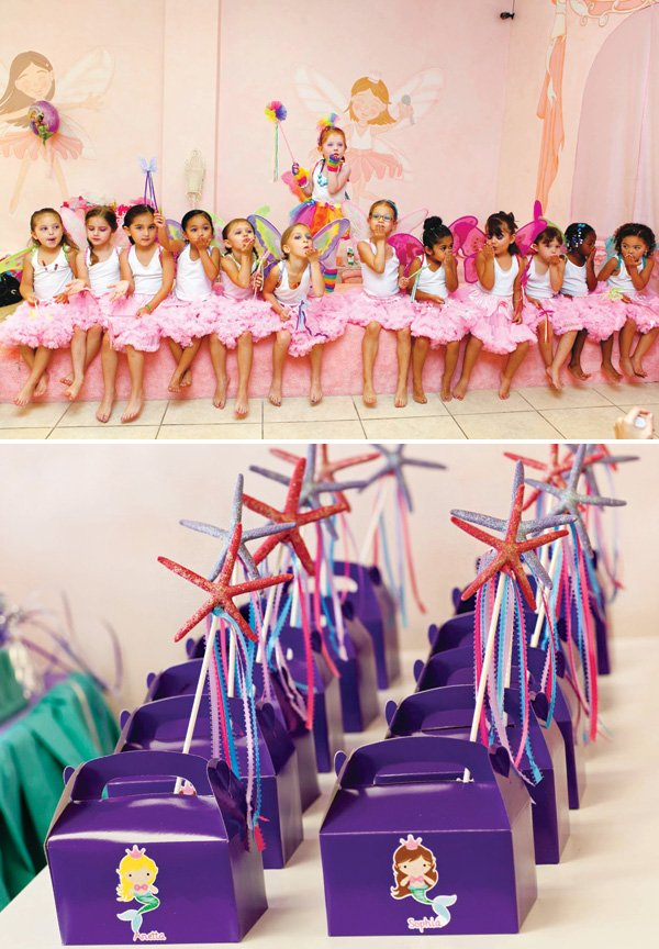 mermaid pink tutu party favors