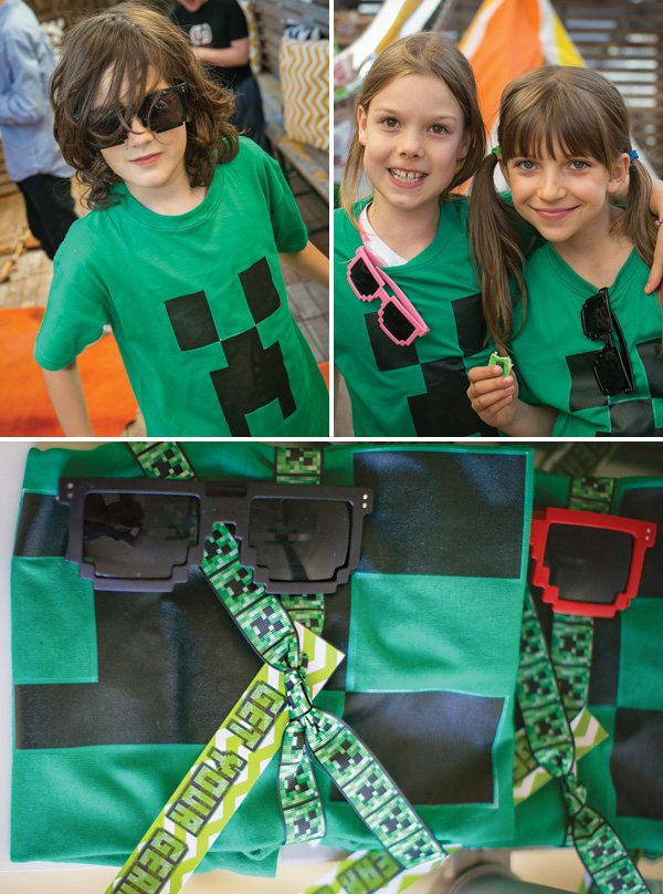 custom minecraft party shirts