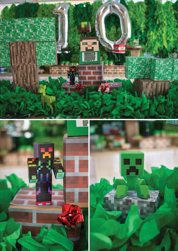 minecraft robot party centerpieces