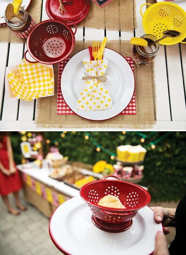 mini strainer place setting bowls