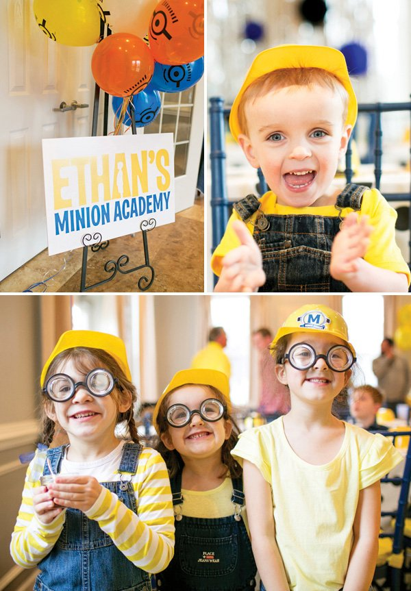 minion academy birthday party