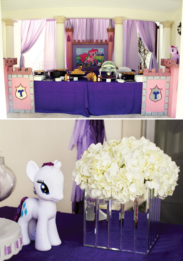 my little pony birthday party buffet