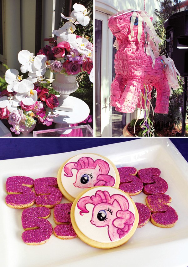 my little pony party piñata and decor