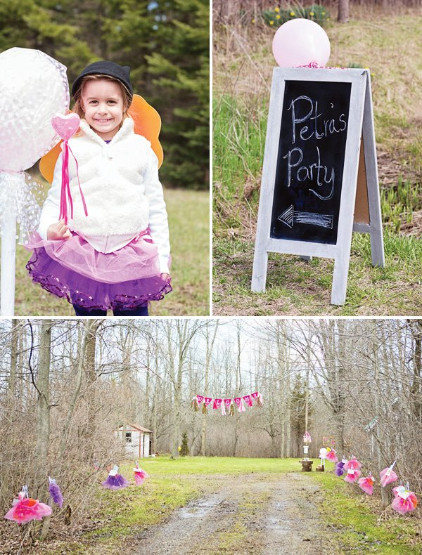 outdoor woodland birthday party