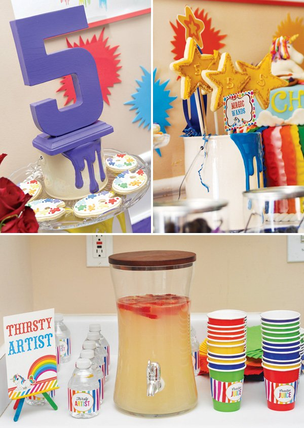 ceramic paint can display stands