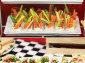 sandwich skewers as a party food idea