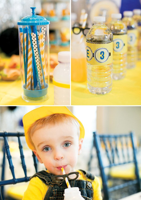 party straw glasses