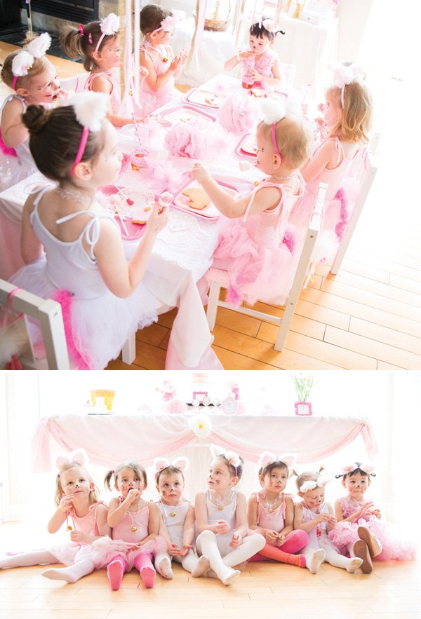 pink kitty cat party costumes