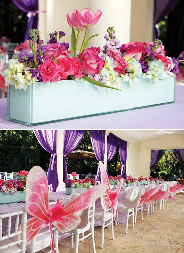 pink my little pony birthday party tablescape and centerpieces