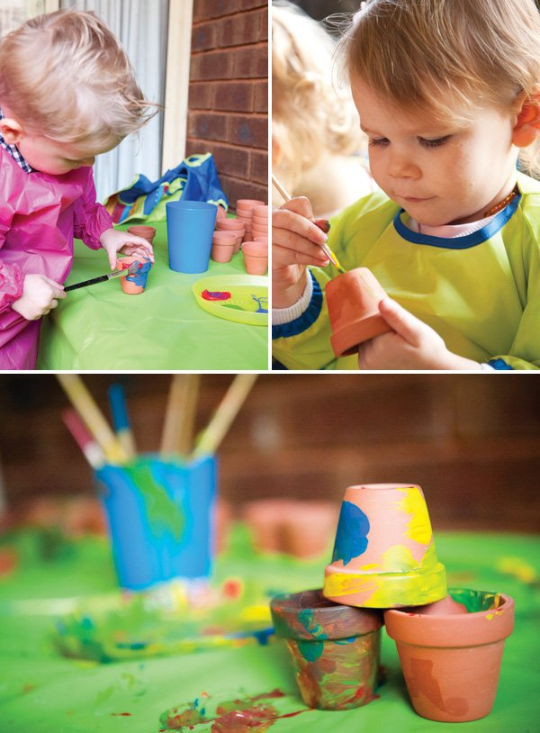 garden pot painting party activity
