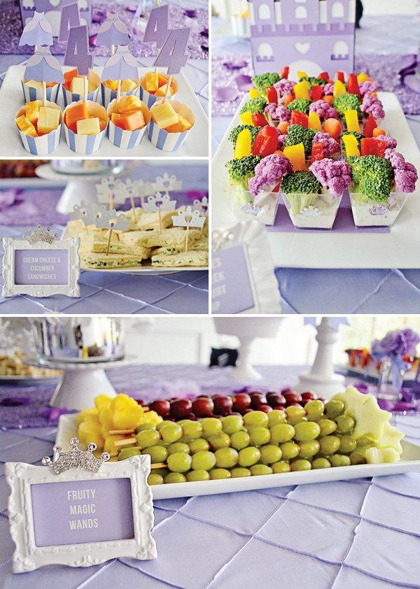 princess birthday party snack ideas