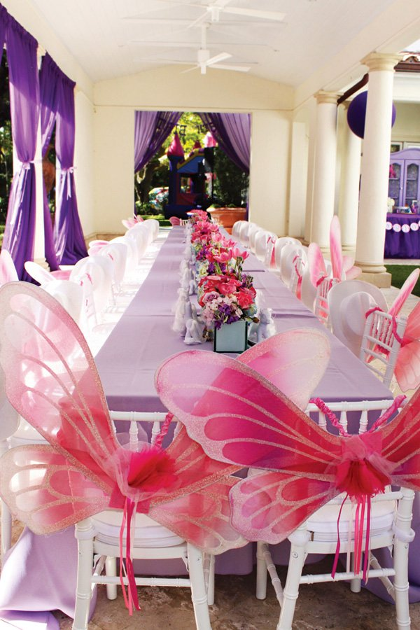 princess fairy wings tablescape