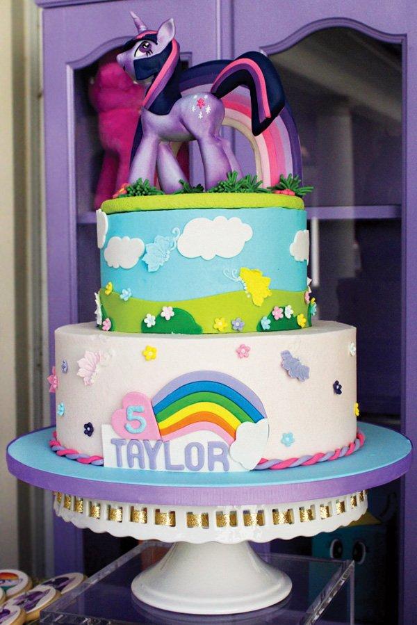 my little pony princess twilight sparkle birthday cake