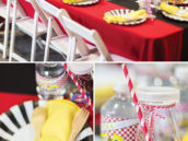 race car party kids table