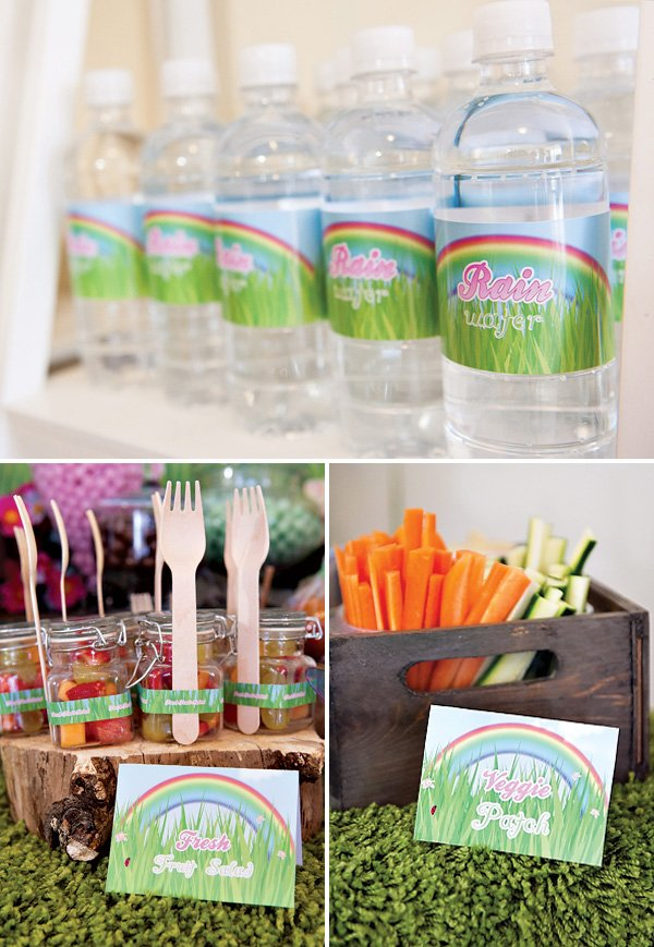 garden party rain water and other food ideas