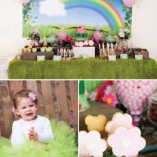 rainbow garden birthday party