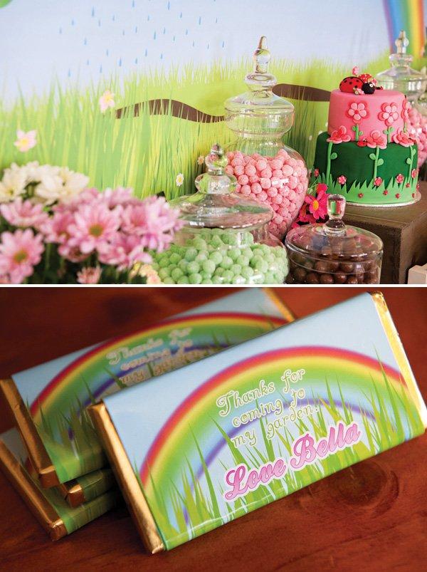 rainbow garden chocolate wrappers