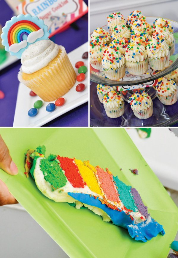 rainbow party dessert ideas