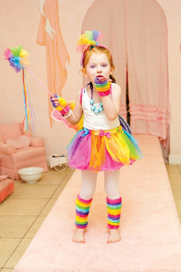 kids rainbow runway dress up birthday party