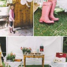 rainy garden birthday party