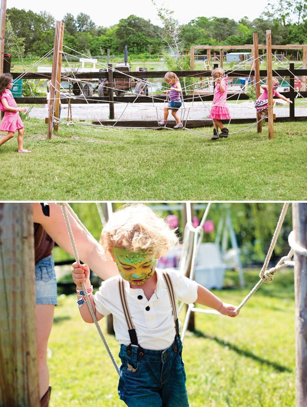 rope walking party game