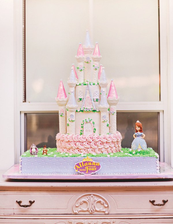 sofia the first castle birthday cake