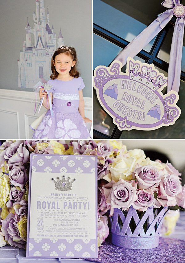Royal Purple Sofia the First Birthday Party Hostess with the Mostess