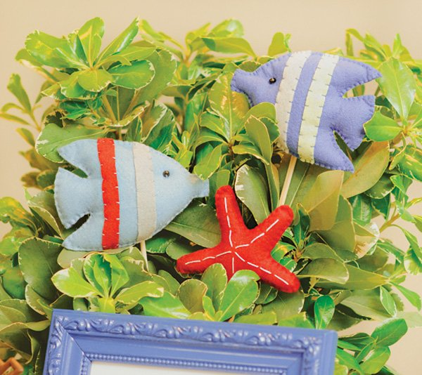 stuffed felt fish toys
