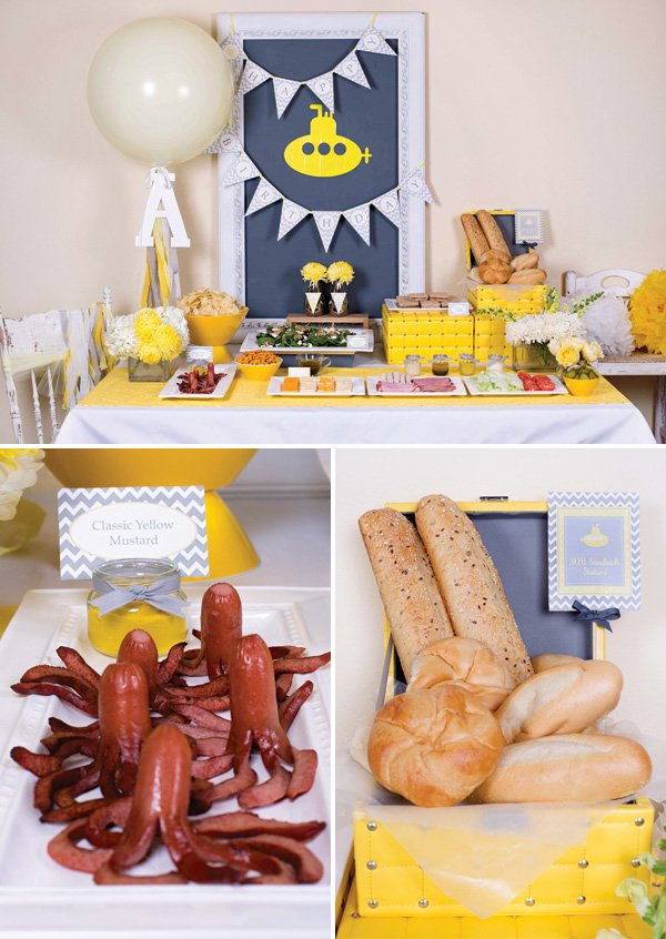 make your own submarine sandwich party buffet