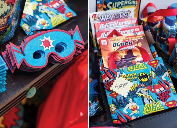 super hero party favors