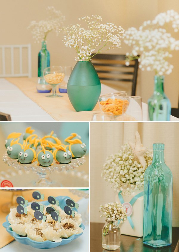 under the sea party tablescape