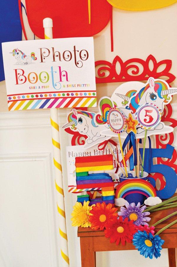 unicorn photo booth props