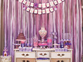 vintage dress for a princess party dessert table