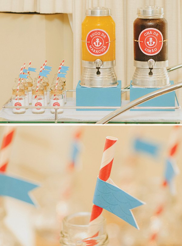 simple ocean waves party flags