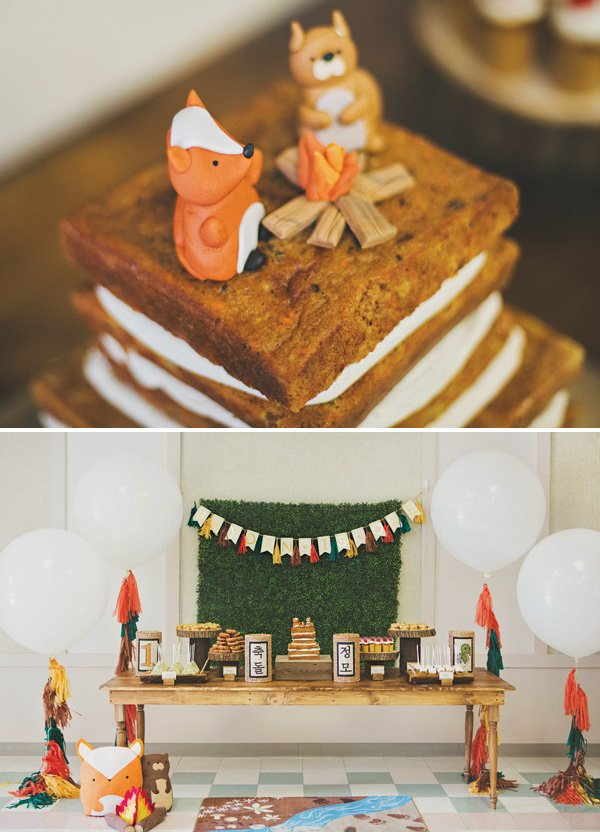 woodland animals birthday cake toppers