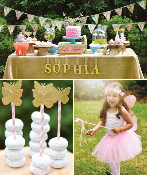 Enchanted Garden Fairy Birthday Party // Hostess With The