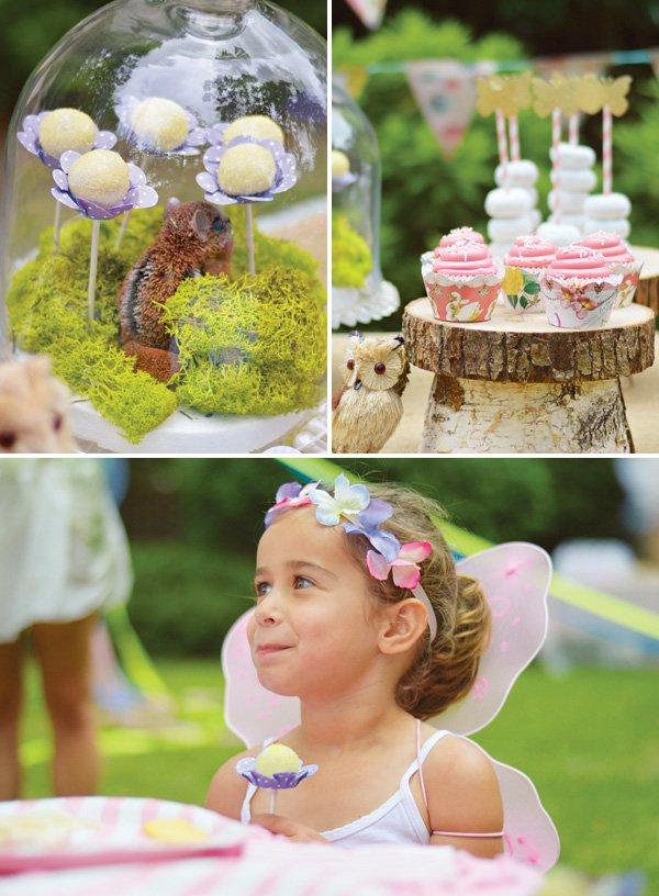 woodland fairy party flower desserts