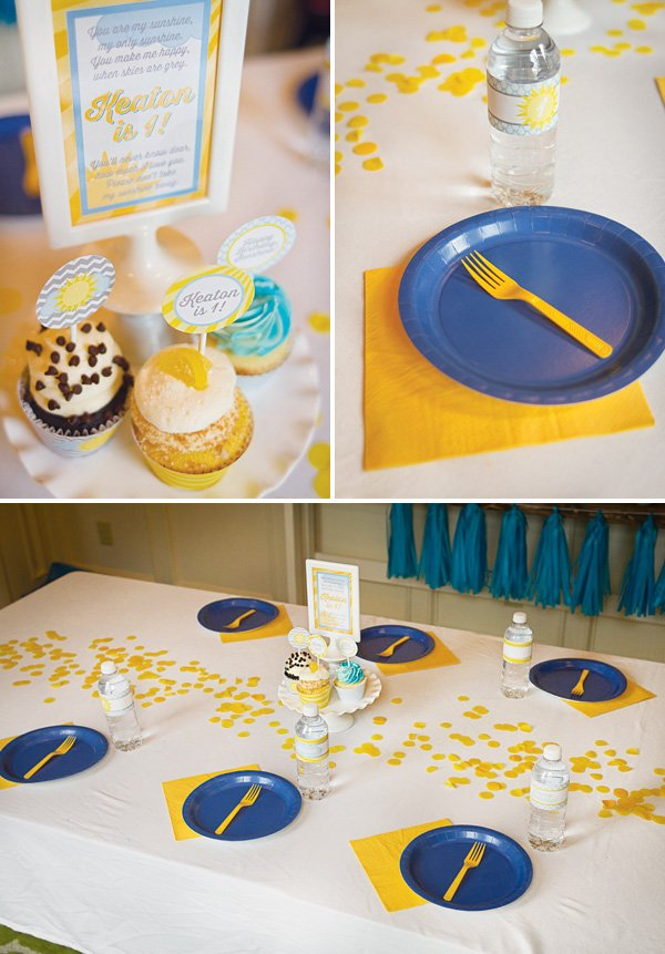 simple and quick birthday party kids tablescape