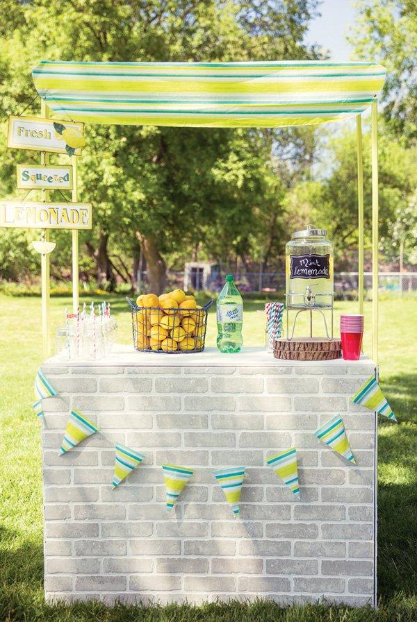 DIY birthday party lemonade stand
