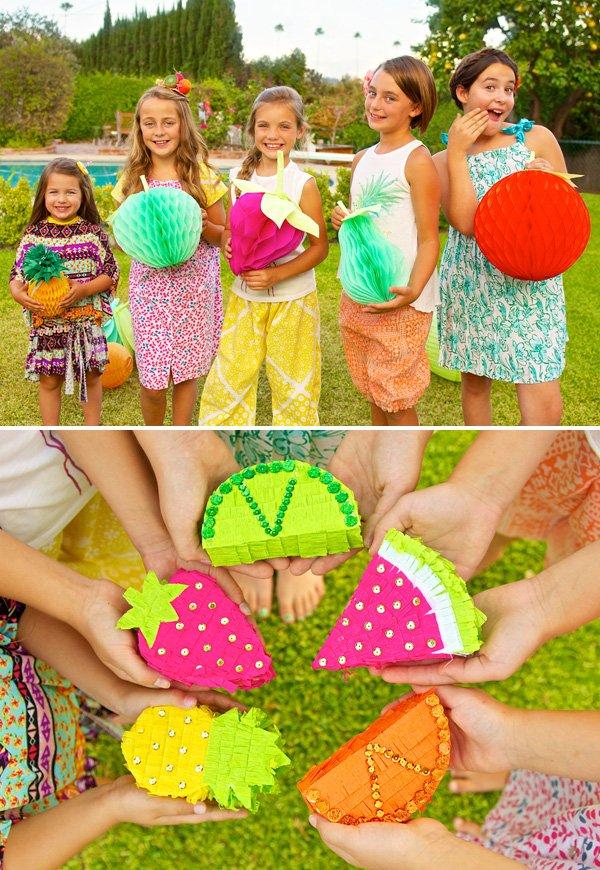 DIY mini fruit piñatas