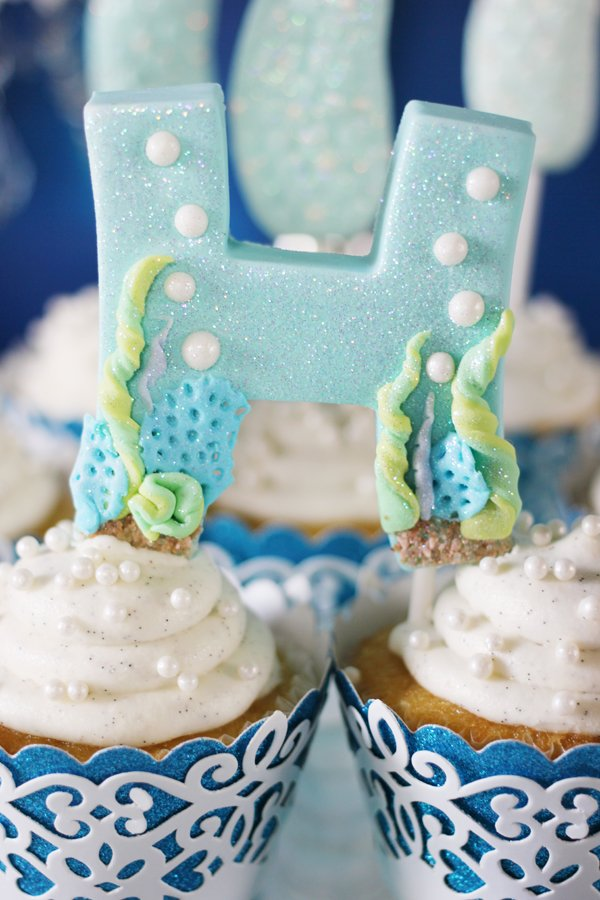 Mermaid-Fondant-Letter