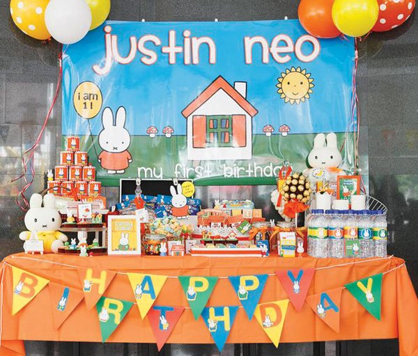Nijntje Miffy themed dessert table