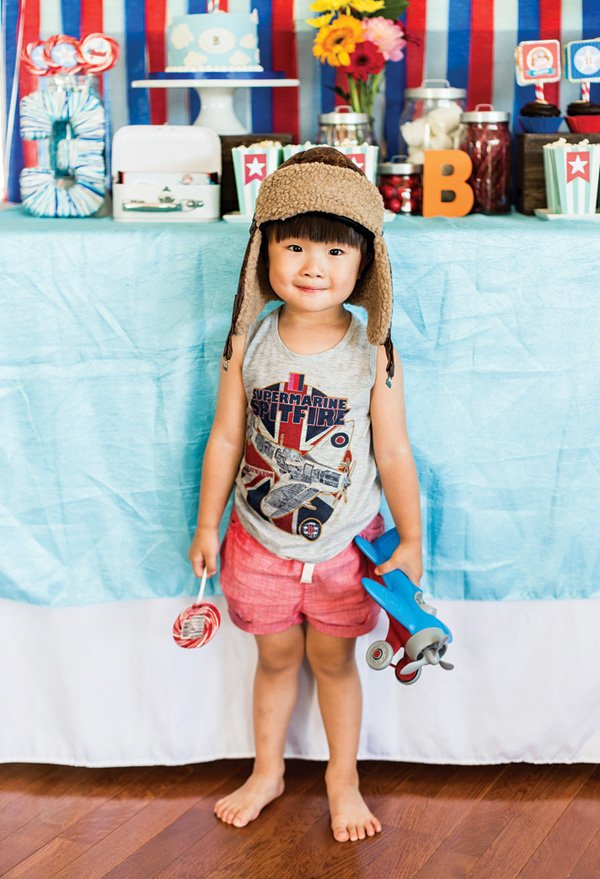 airplane birthday party kid's outfit