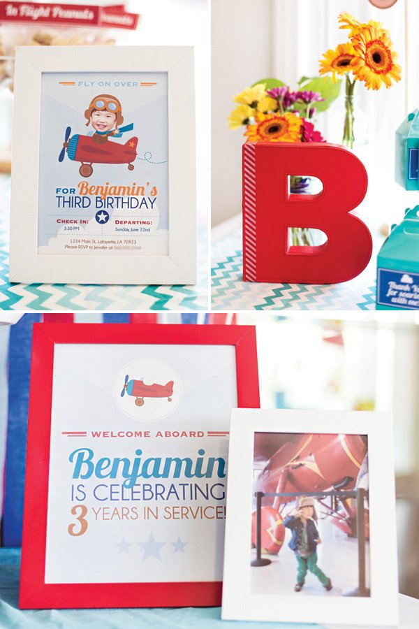airplane birthday party printable signs