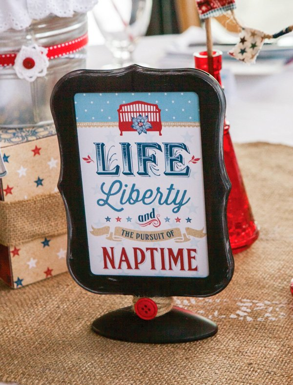 vintage americana baby shower decorations - party signs