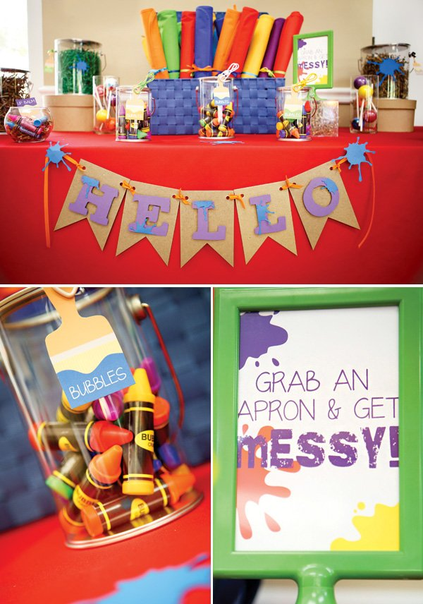 art birthday party favor ideas