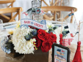 baby liberty shower centerpieces