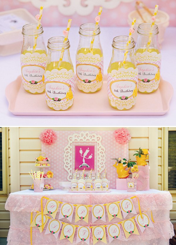Belle Birthday Party Decorations Inspiration Belle Inspired Princess Tea Party Birthday Be Our Guest Design Decoration
