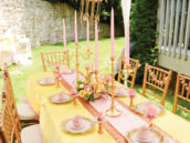 beauty and the beast tea party birthday tablescape